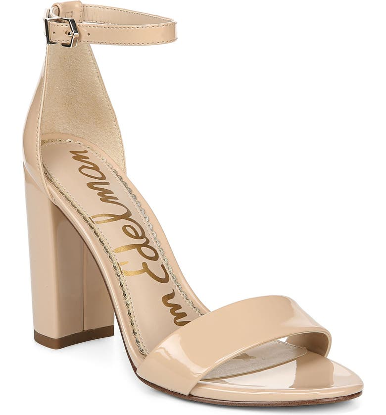 SAM EDELMAN Yaro Ankle Strap Sandal, Main, color, BLUSH NUDE FAUX PATENT LEATHER