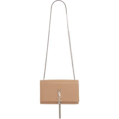 Saint Laurent Medium Kate - Tassel Calfskin Leather Shoulder Bag - Beige