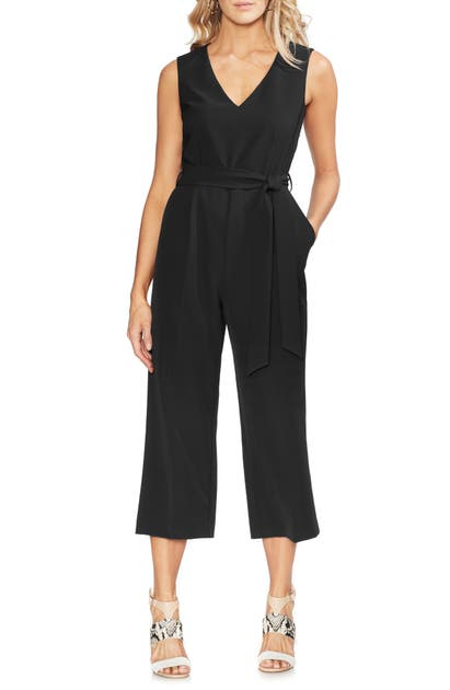 Vince Camuto Suits BELTED CROP JUMPSUIT