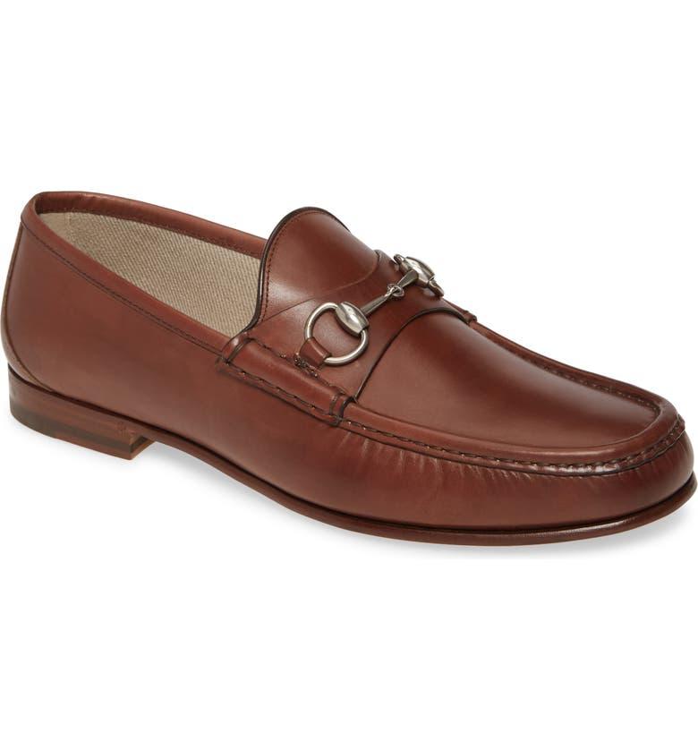 GUCCI Bit Loafer, Main, color, COCOA