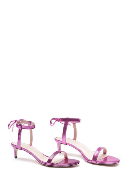 Image of Schutz Thauany Patent Leather Kitten Heel Sandal