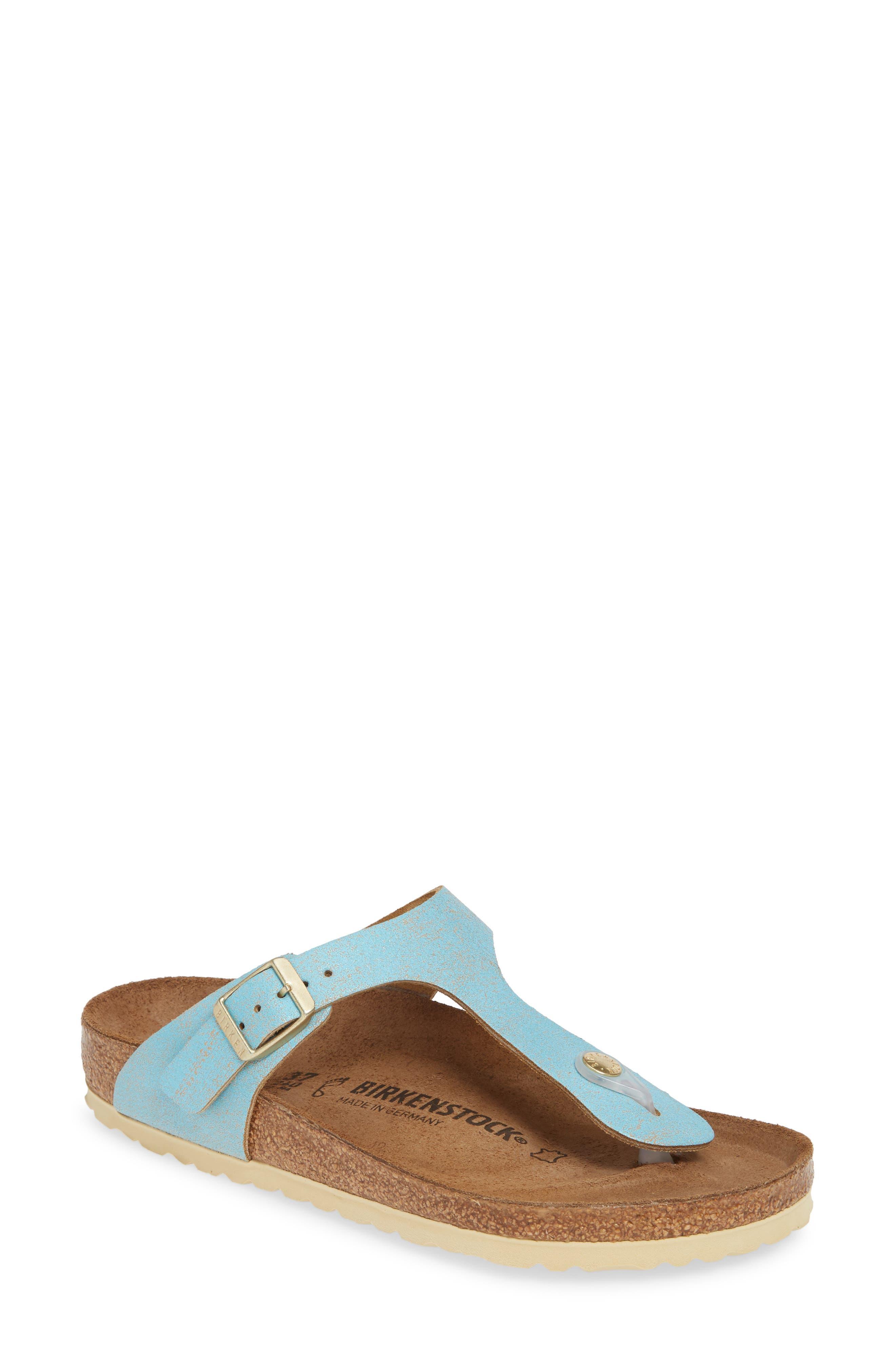 Birkenstock Gizeh Flip Flop,5.5 - Blue