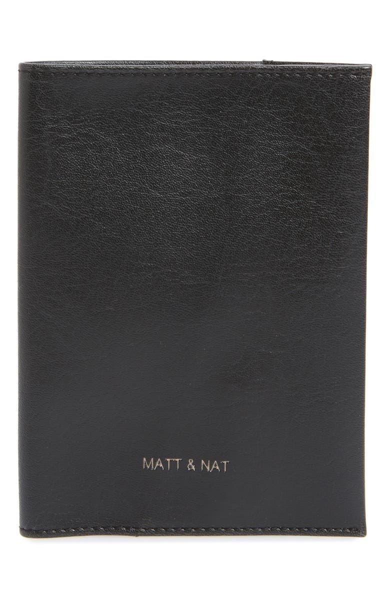 MATT & NAT Voyage Faux Leather Passport Case, Main, color, 001