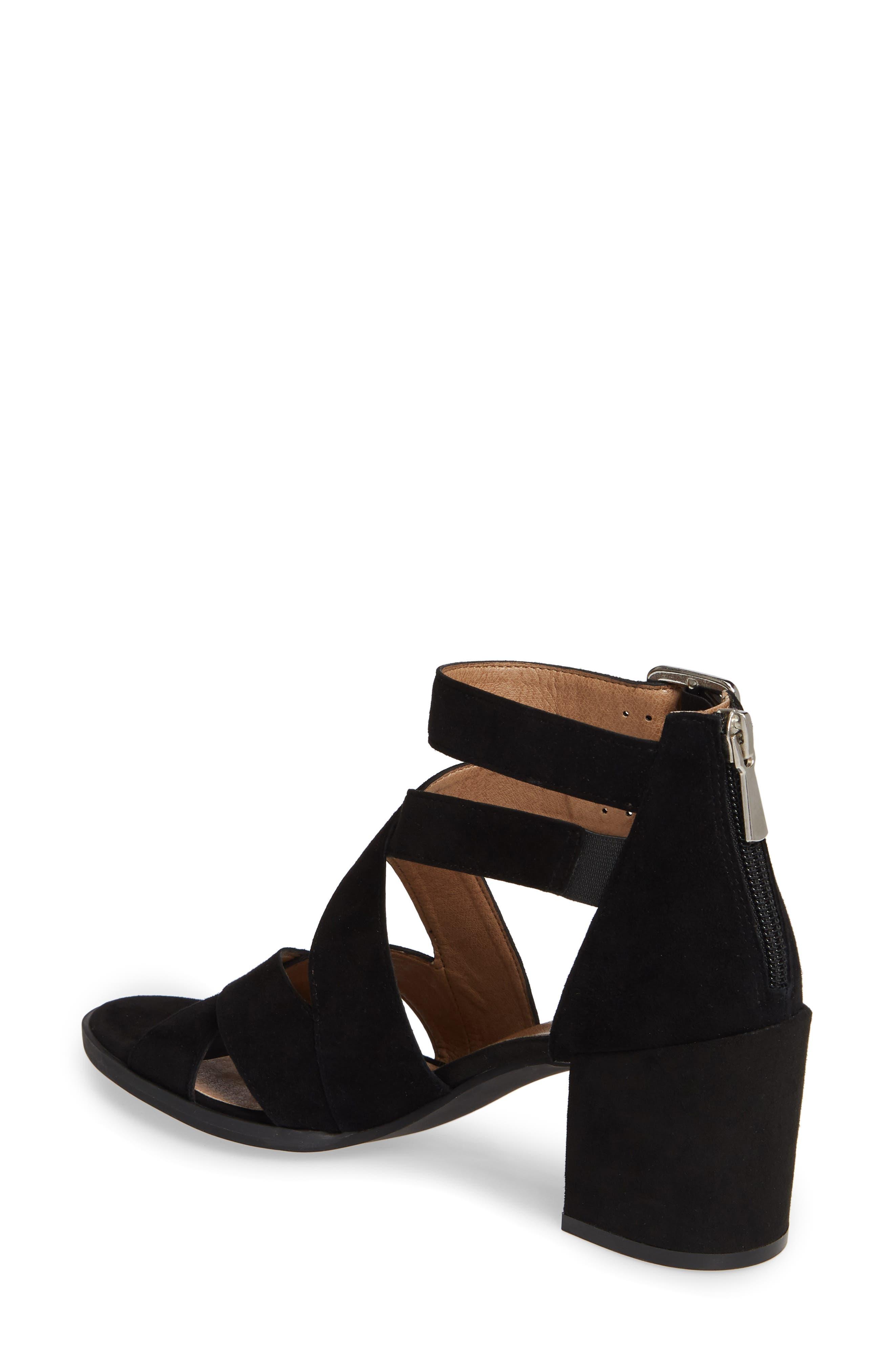 ,                             Izzy Block Heel Sandal,                             Alternate thumbnail 2, color,                             BLACK SUEDE