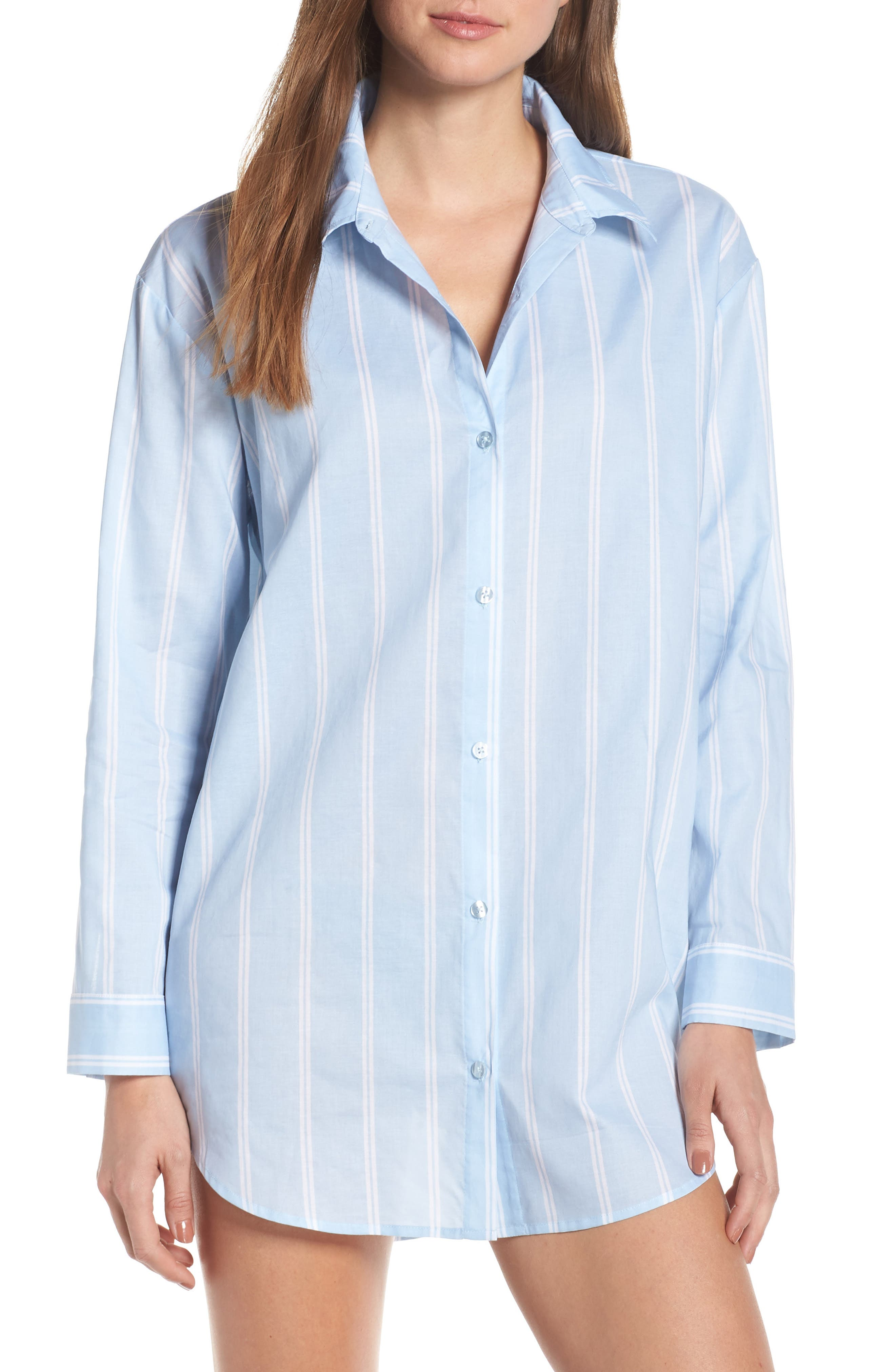 Something Navy Cotton Nightshirt, Size - (Nordstrom Exclusive)