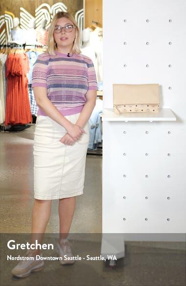 Corina Leather & Visetos Canvas Foldover Crossbody Bag, sales video thumbnail