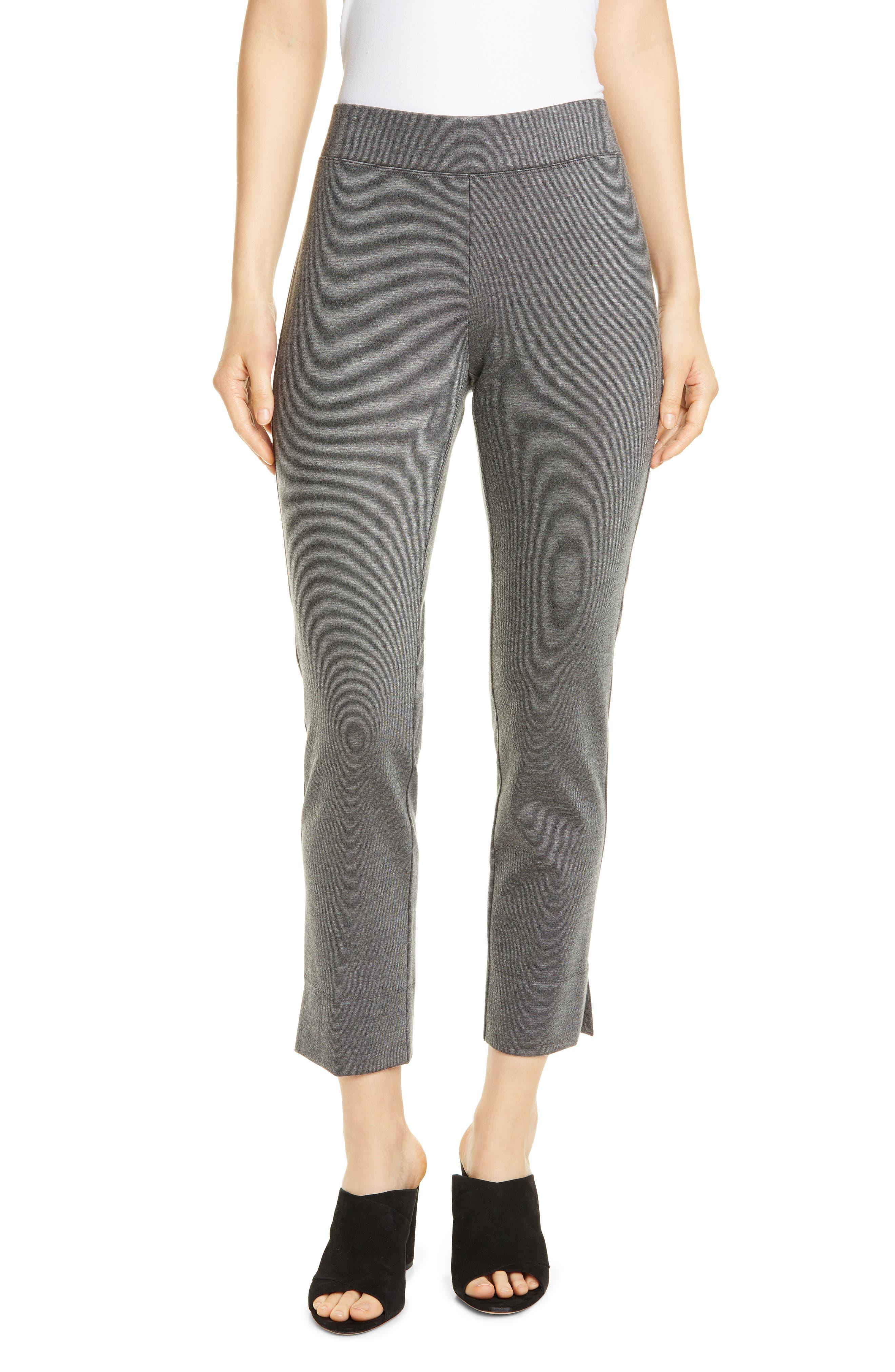 Image of Eileen Fisher Slim Vented Crop Pants