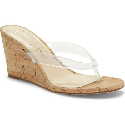 Jessica Simpson Coyrie Wedge Flip Flop- White
