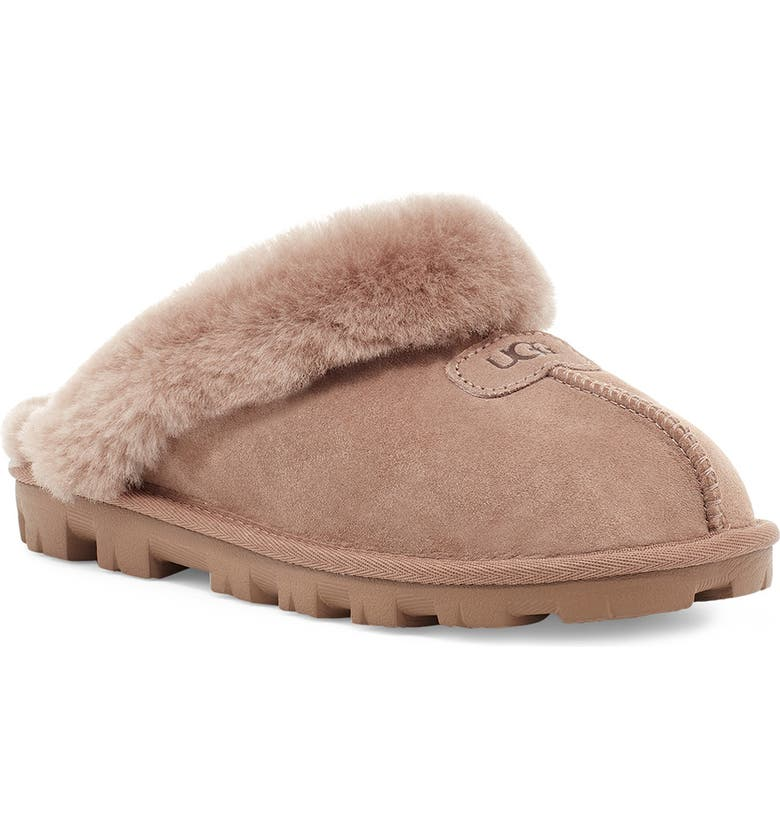 UGG<SUP>®</SUP> Genuine Shearling Slipper, Main, color, CARIBOU SUEDE