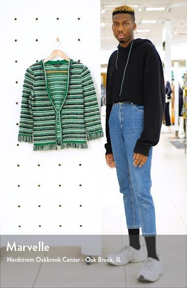 Stripe Tweed Knit Jacket, sales video thumbnail