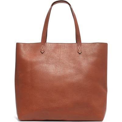 Madewell Zip Top Transport Leather Tote - Brown