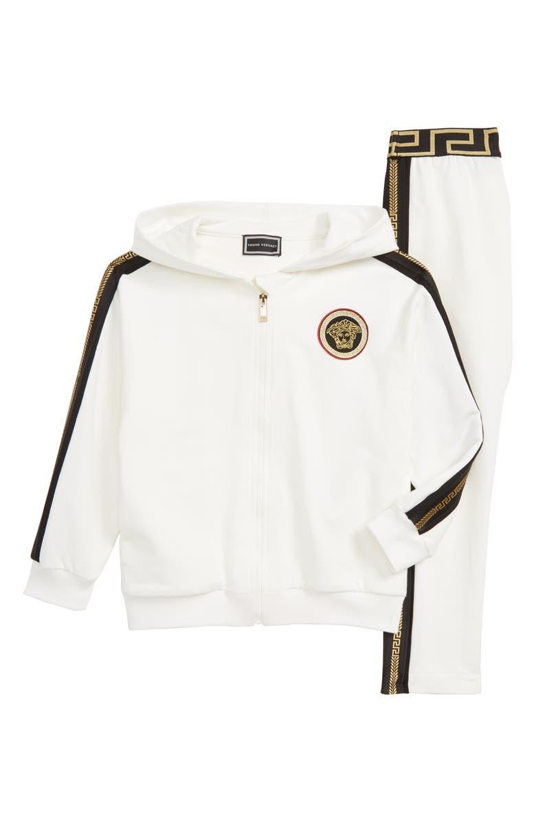 VERSACE Hooded Sweatsuit, Main, color, 100