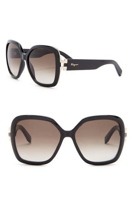 Salvatore Ferragamo 56mm Oversized Sunglasses $79.97 (76% off)