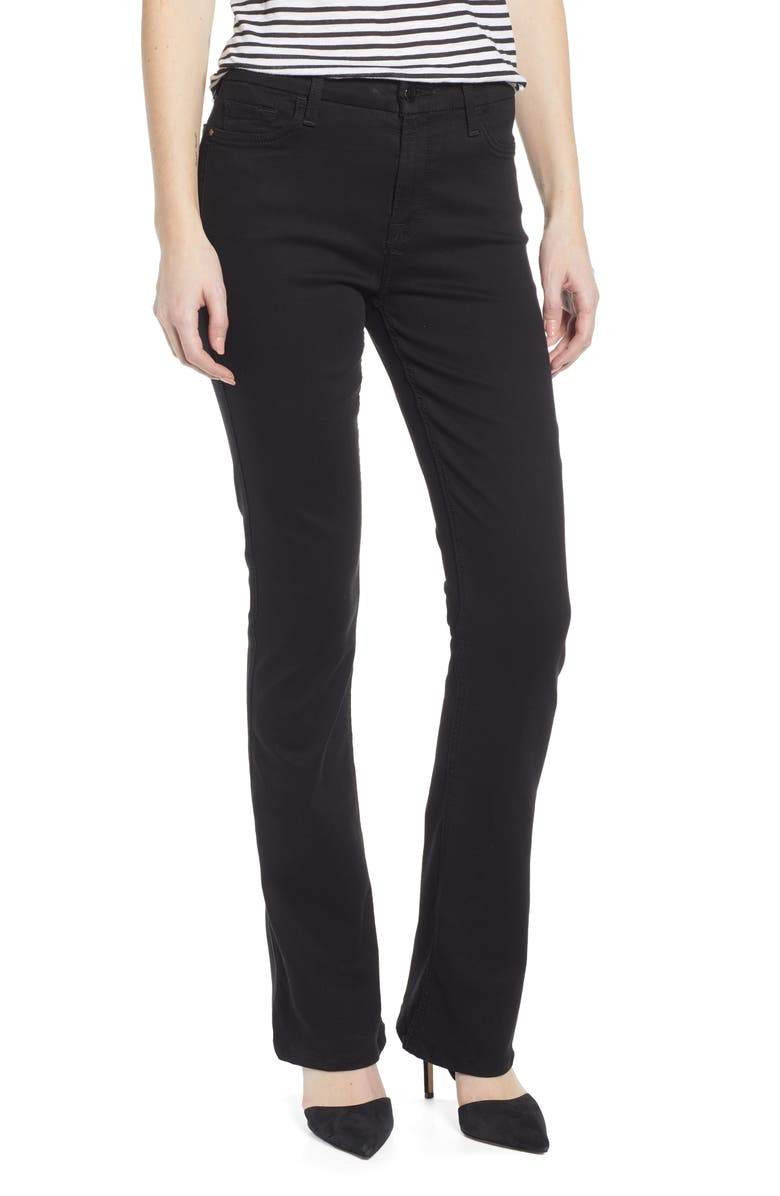 JEN7 BY 7 FOR ALL MANKIND Slim Bootcut Jeans, Main, color, CLASSIC BLACK NOIR