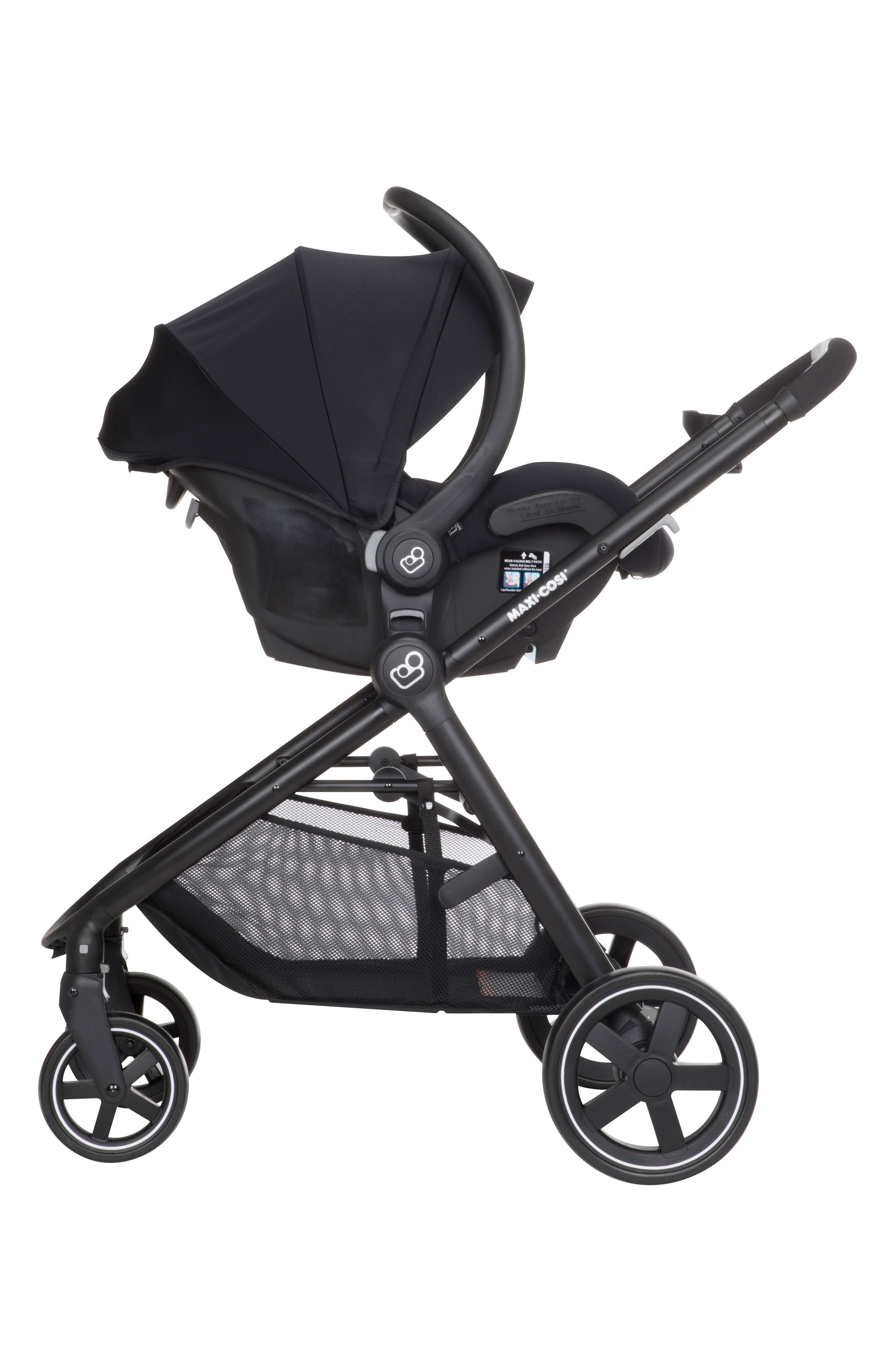 ,                             5-1 Mico 30 Infant Car Seat & Zelia Stroller Modular Travel System,                             Alternate thumbnail 4, color,                             NIGHT BLACK
