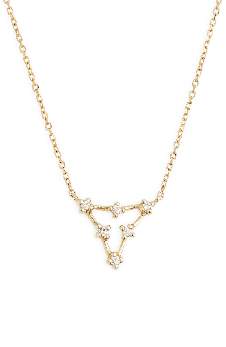 DANA REBECCA DESIGNS Ava Bea Triangle Necklace, Main, color, YELLOW GOLD