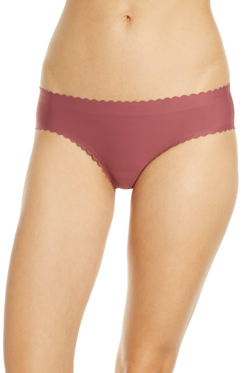 KNIX Essential Scallop Bikini, Main, color, WHISKEY ROSE