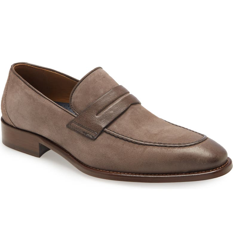 JOHNSTON & MURPHY Cormac Penny Loafer, Main, color, GRAY