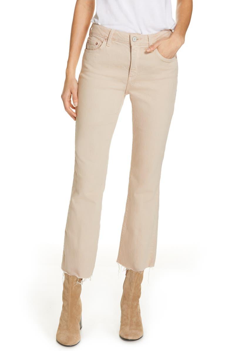 TRAVE Colette High Waist Crop Flare Leg Jeans, Main, color, 200