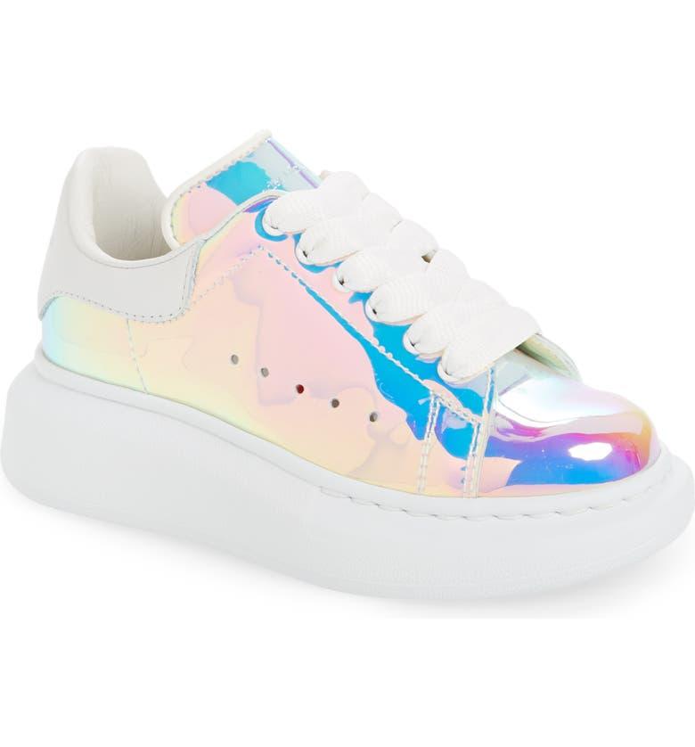 ALEXANDER MCQUEEN Fantasy Platform Sneaker, Main, color, WHITE