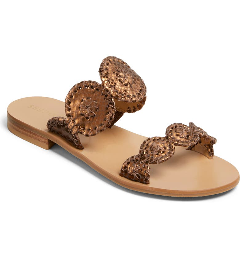 JACK ROGERS 'Lauren' Sandal, Main, color, BRONZE