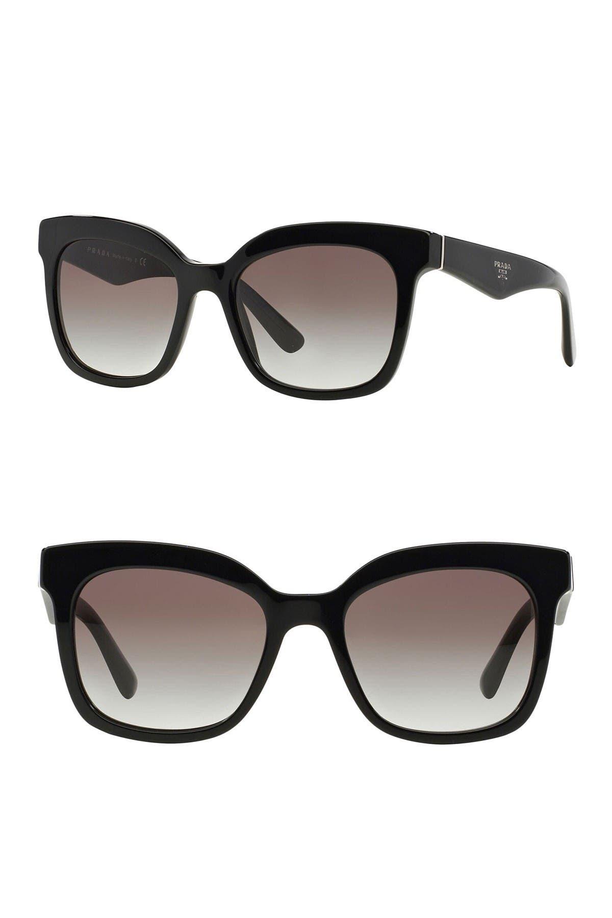 Image of Prada Heritage 53mm Square Sunglasses