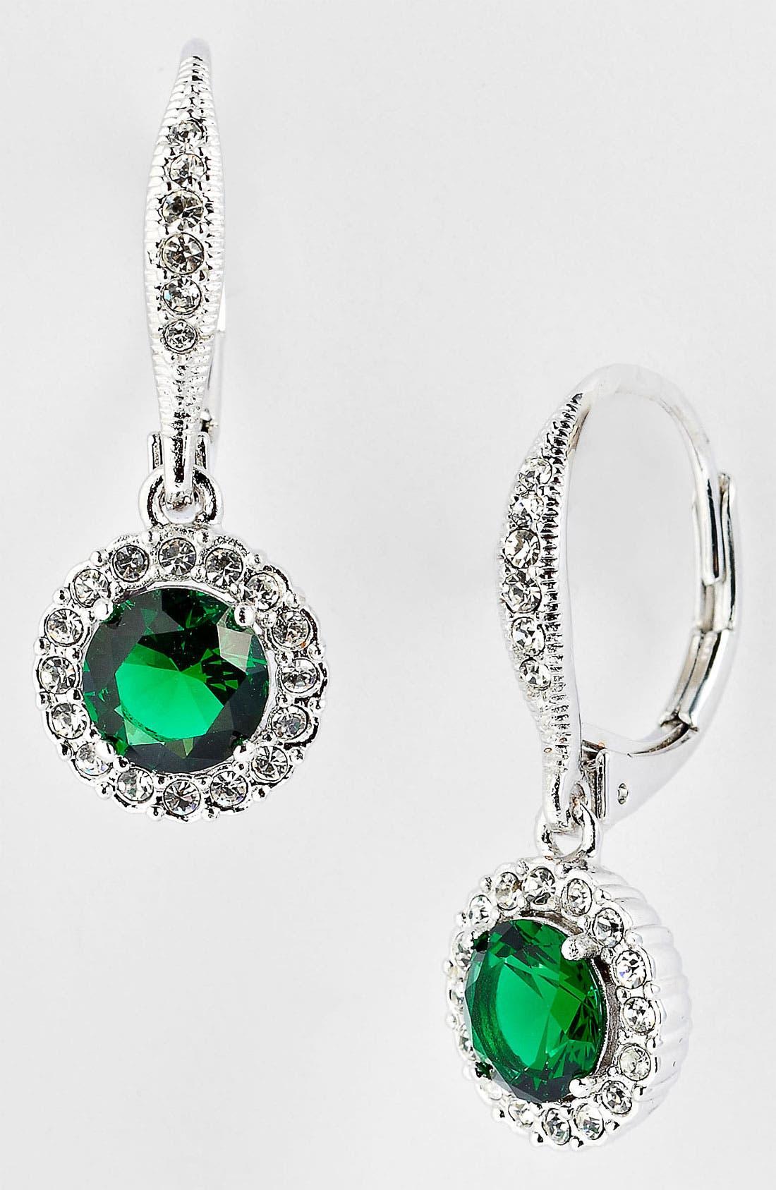 ,                             Cubic Zirconia Drop Earrings,                             Main thumbnail 14, color,                             300