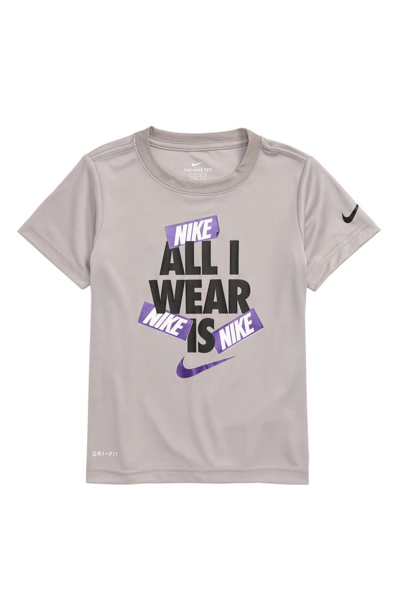 NIKE Dry All I Wear Is Nike Graphic T-Shirt, Main, color, ATMOSPHERE GREY