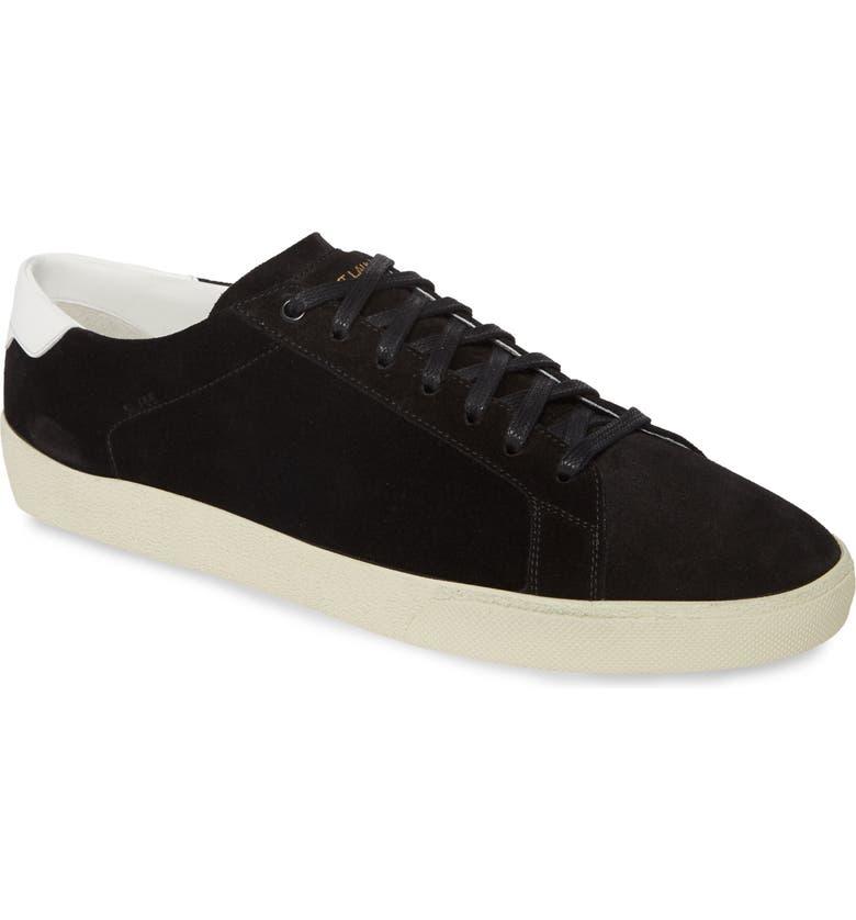 SAINT LAURENT Low Top Sneaker, Main, color, NERO