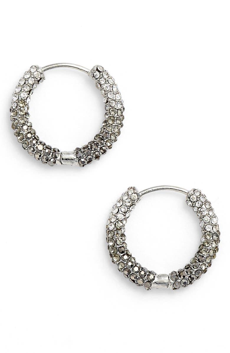 JENNY PACKHAM Pavé Crystal Hoop Earrings, Main, color, 040