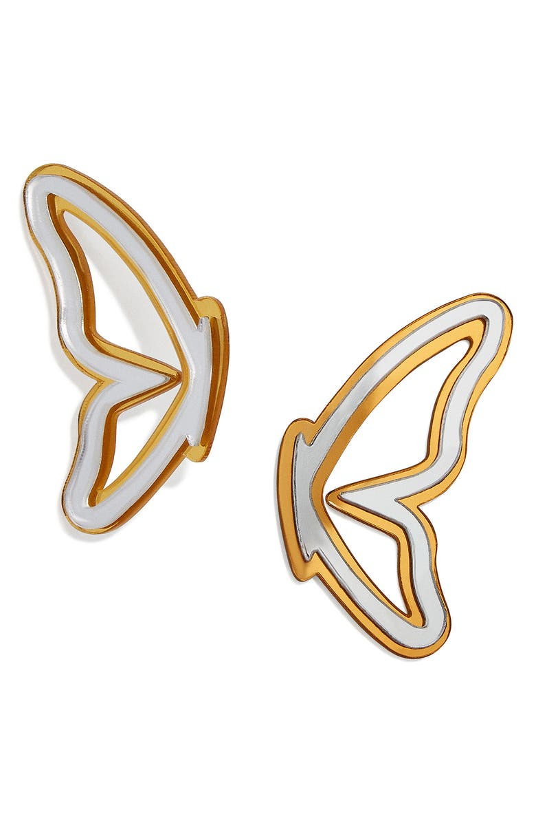 BaubleBar Butterfly Mirror Earrings