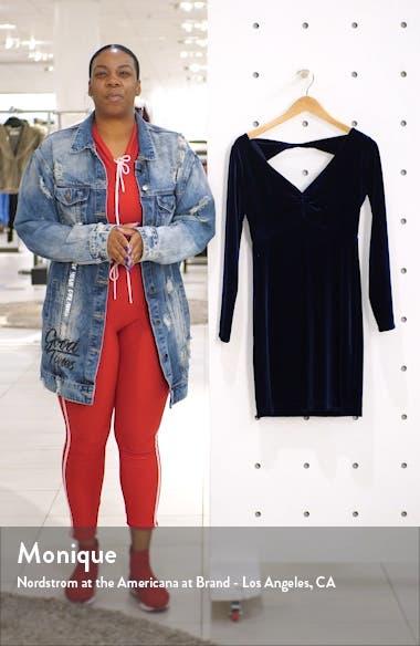 Velvet V-Neck Long Sleeve Cocktail Dress, sales video thumbnail