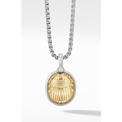 David Yurman Petrvs Scarab Amulet With 18K Yellow Gold
