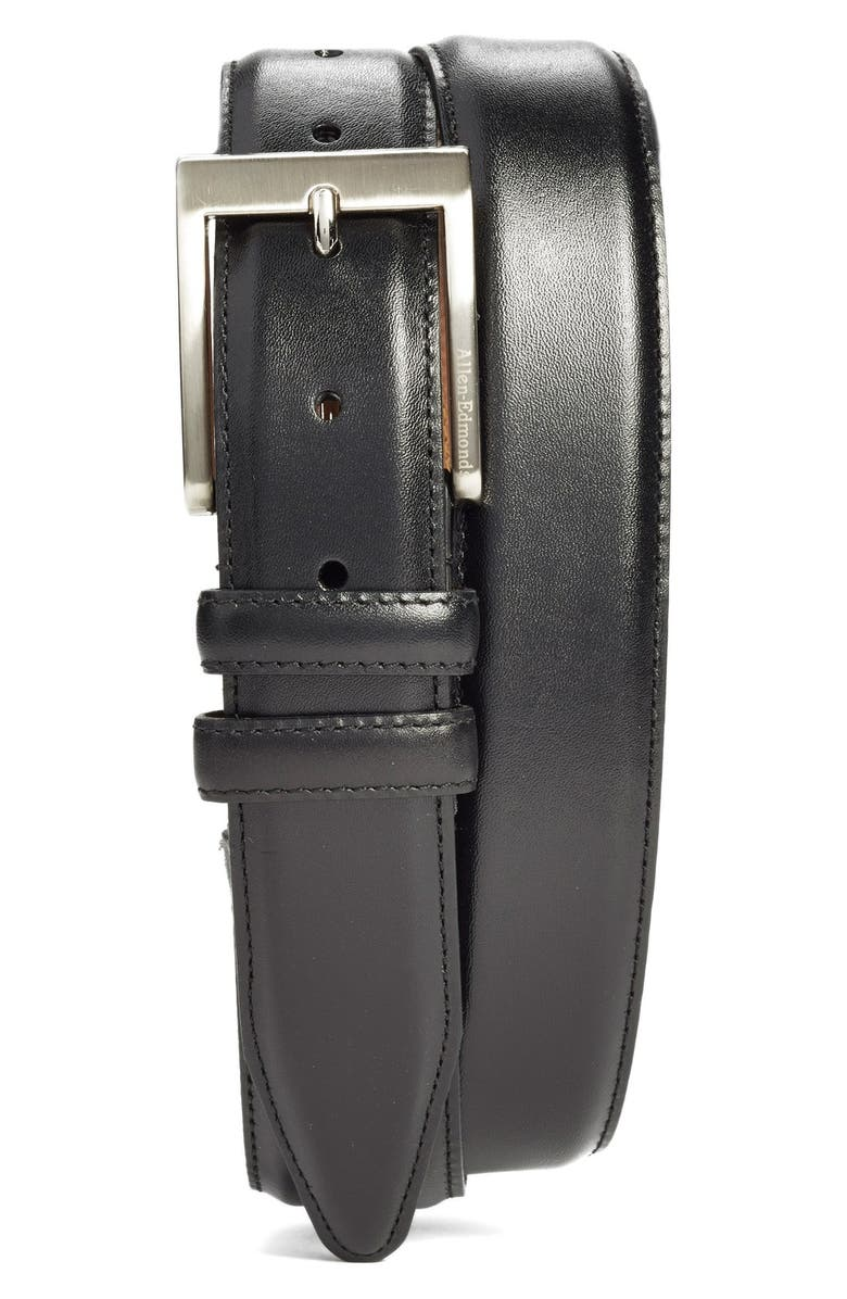ALLEN EDMONDS Classic Wide Belt, Main, color, BLACK