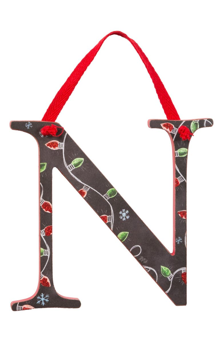 PRIMITIVES BY KATHY Hanging Letter Ornament, Main, color, 001
