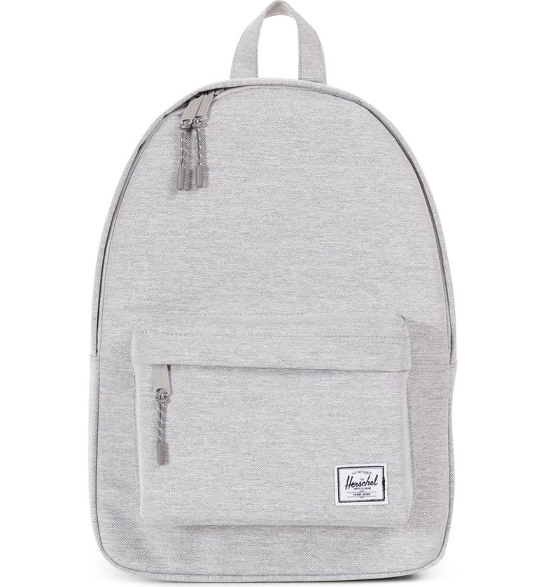 HERSCHEL SUPPLY CO. Classic Mid Volume Backpack, Main, color, LIGHT GREY CROSSHATCH