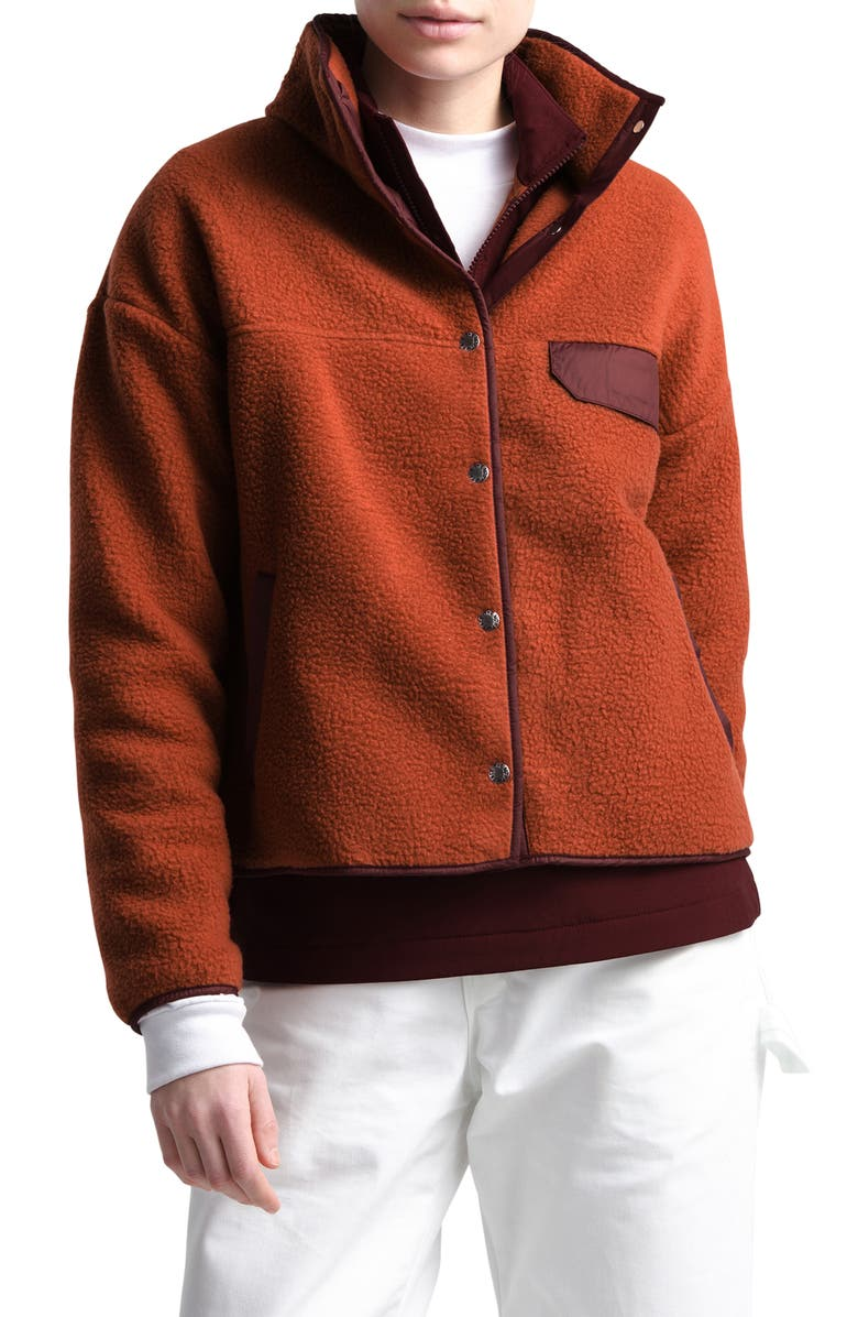 THE NORTH FACE Cragmont Fleece Jacket, Main, color, PICANTE RED/ DEEP GARNET RED