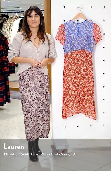 Lindy Floral Silk Chiffon Dress, sales video thumbnail