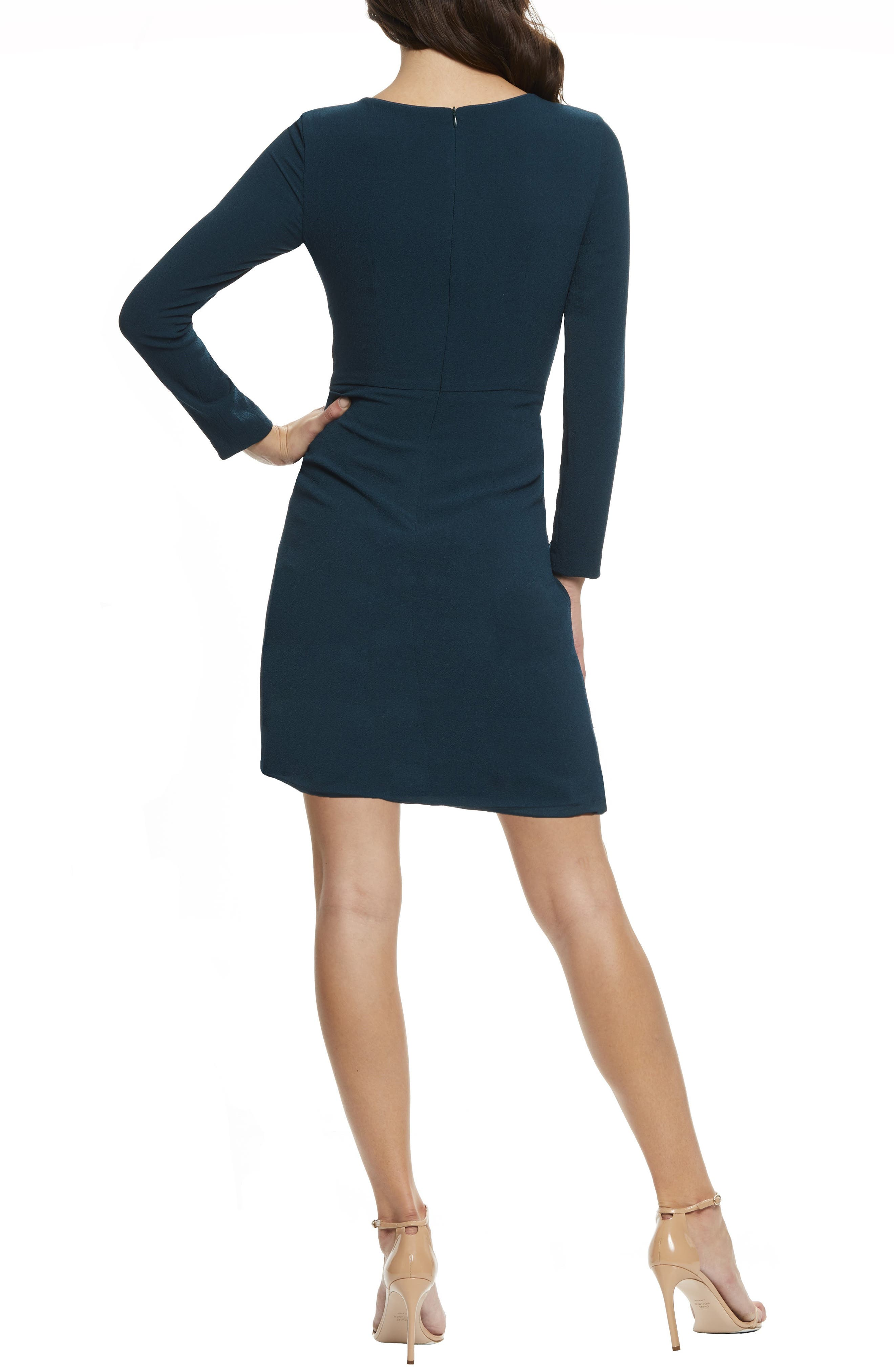 ,                             Coby Twisted Faux Wrap Cocktail Dress,                             Alternate thumbnail 8, color,                             301