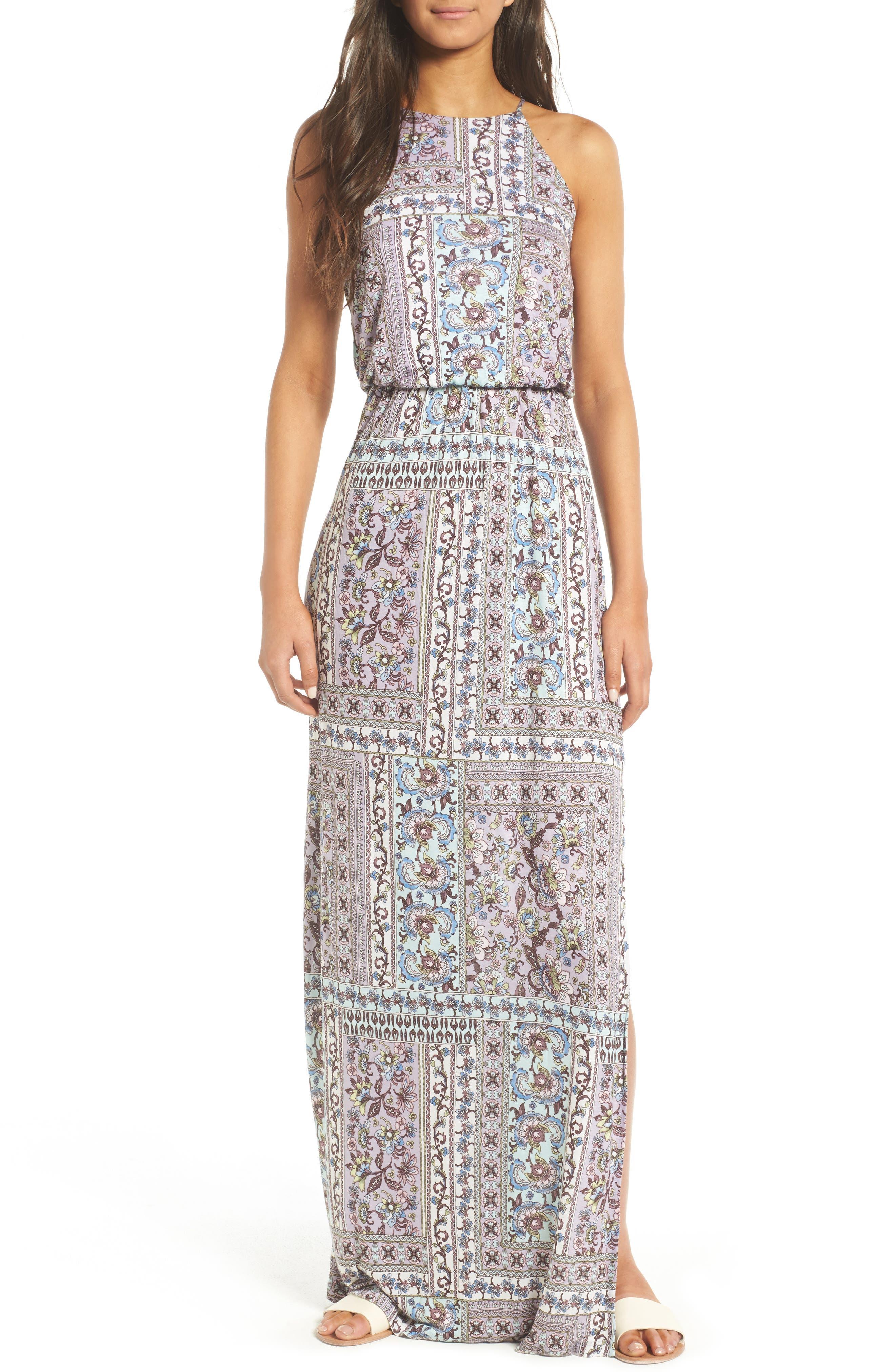 ,                             High Neck Maxi Dress,                             Main thumbnail 41, color,                             020