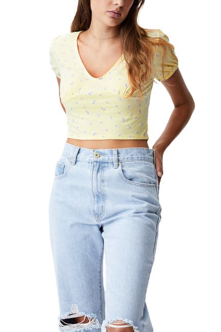 Image of Cotton On Annabelle Short Sleeve Top