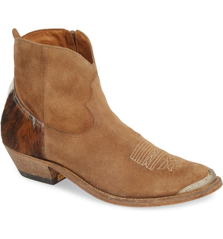 GOLDEN GOOSE Young Western Boot with Genuine Calf Hair, Main, color, 200