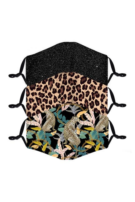 Image of FASHION MASKS Reusable Fashion Adult Face Mask - Pack of 3 - Safari