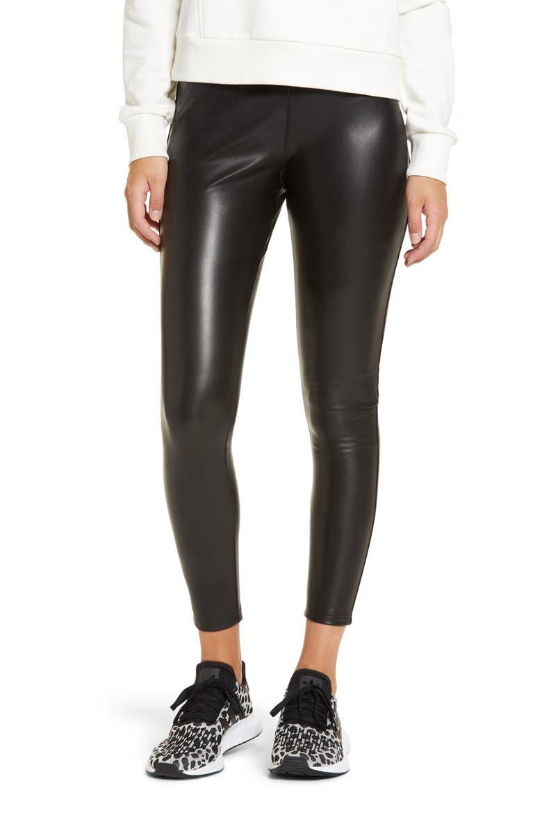 NORDSTROM Faux Leather Leggings, Main, color, 001