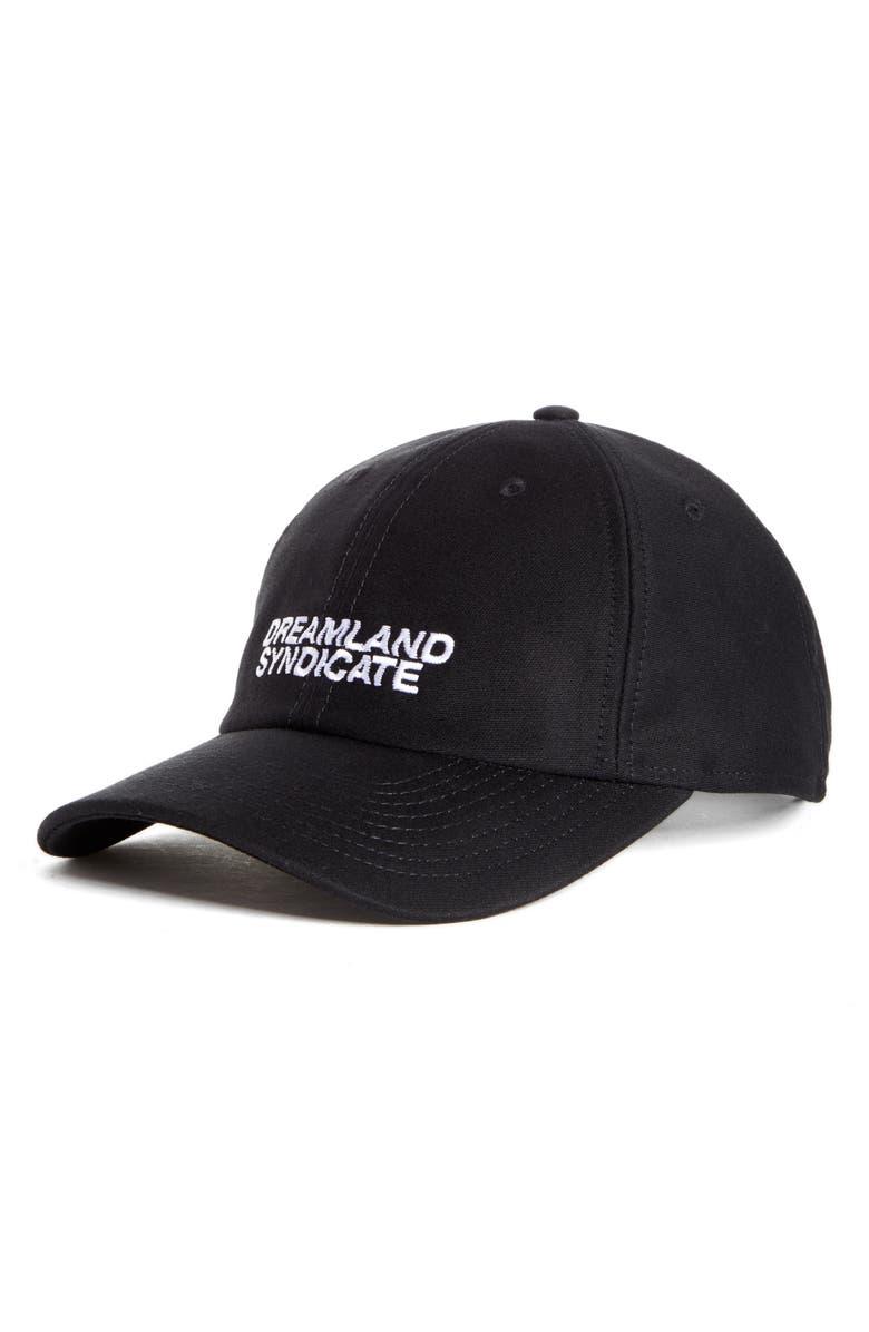 DREAMLAND SYNDICATE Logo Baseball Cap, Main, color, 001