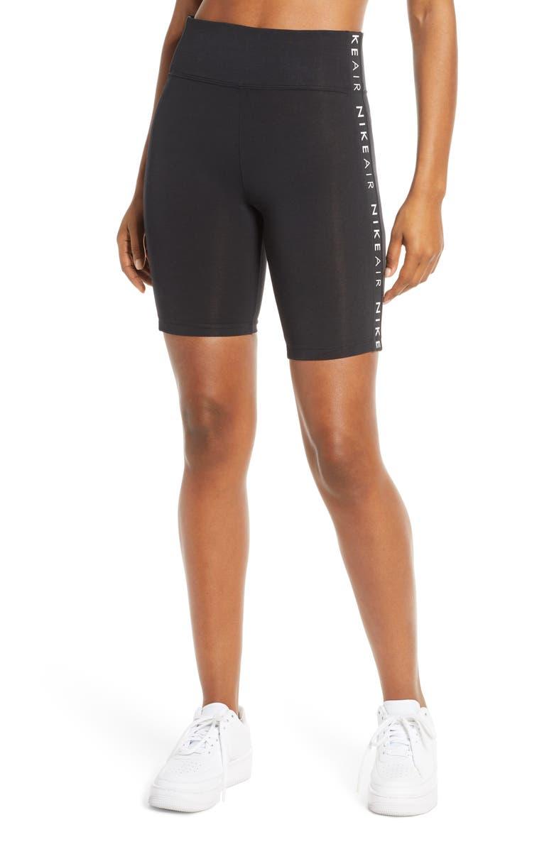 NIKE Sportswear Air Bike Shorts, Main, color, BLACK