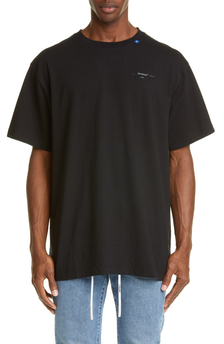 OFF-WHITE Unfinished Logo T-Shirt, Main, color, 001