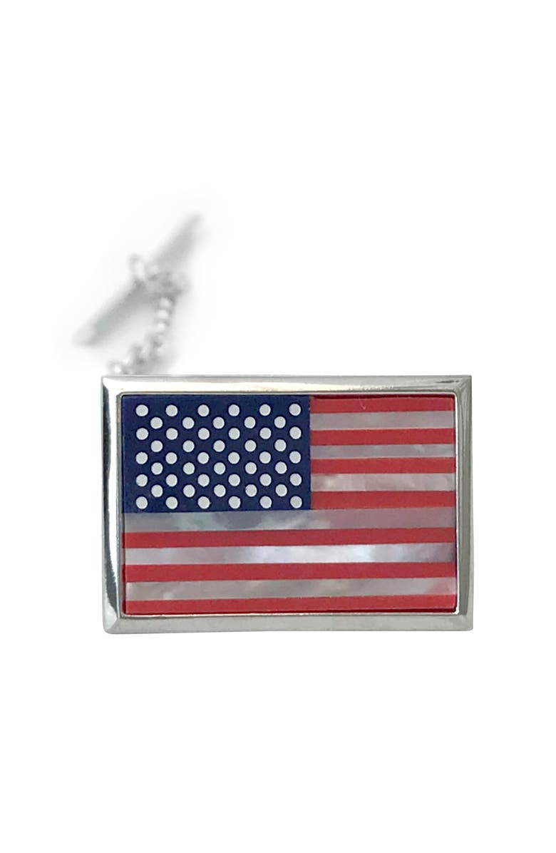LINK UP American Flag Lapel Pin, Main, color, RED