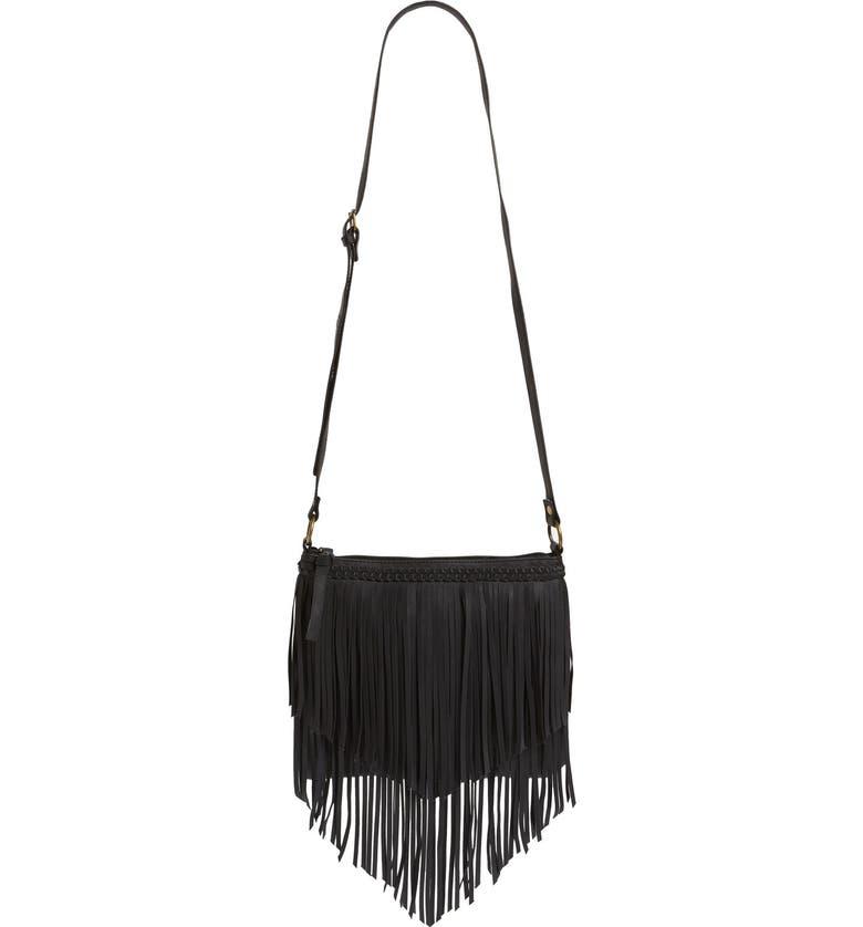 BP. Layered Fringe Crossbody Bag, Main, color, 001