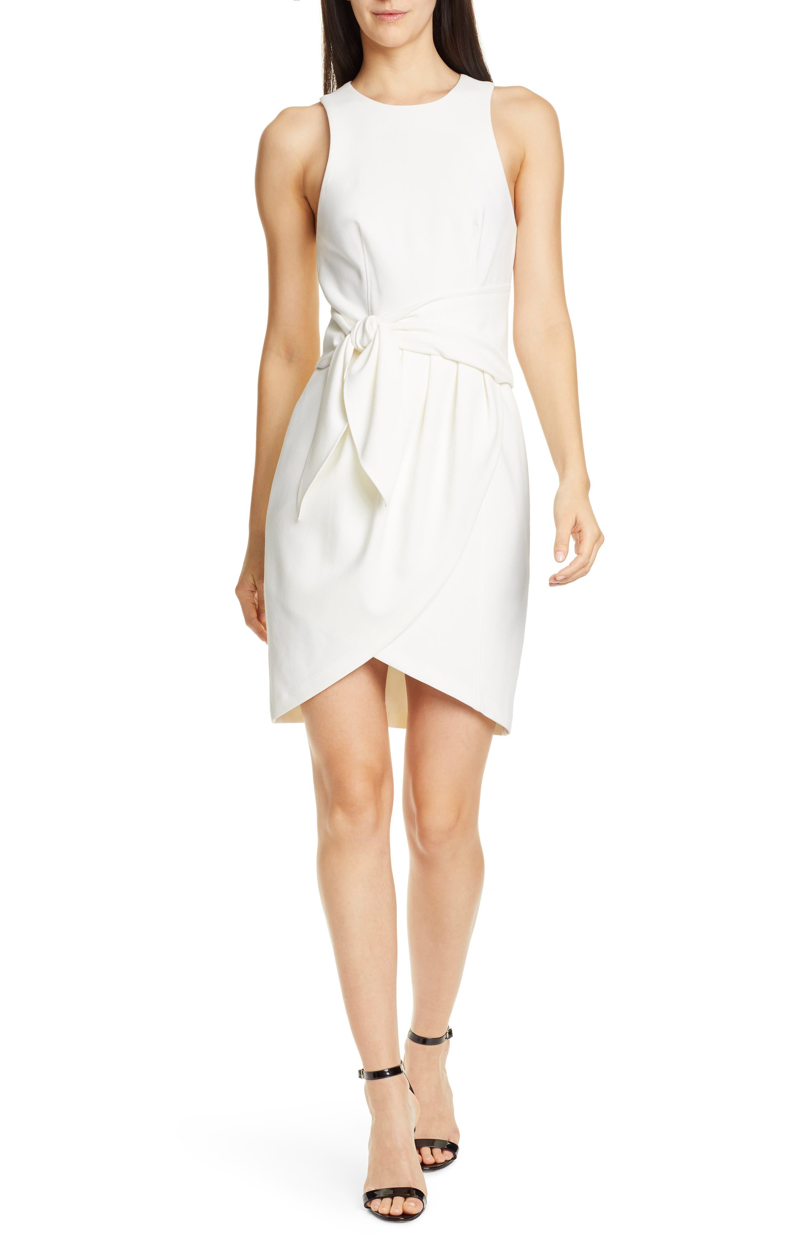 Cinq A Sept Cassaleigh Tie Waist Minidress, Ivory
